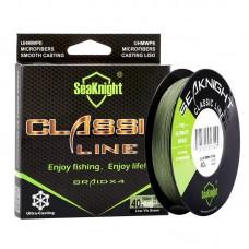 Шнур SeaKnight braid x4 300m 8lb 0,10mm 3.6kg Low-Vis Green