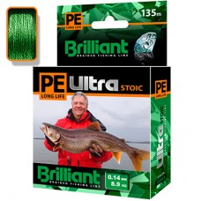 Плетеный шнур PE Ultra Brilliant Stoic Ultra Green 135 m 0.14 mm