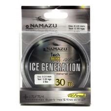 Леска Namazu Ice Generation L-30 м d-0,08 мм test-0,44 кг прозрачная