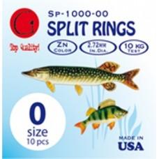 Заводные кольца Split Rings Zn #3 (dia 4,42 mm, 20 kg test)