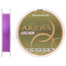 Шнур Favorite Arena PE 4x 150м (purple) #0.4/0.104mm 8lb/3.5kg