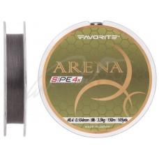 Шнур Favorite Arena PE 4x 150м (silver gray) #0.4/0.104mm 8lb/3.5kg