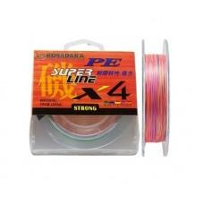 Шнур KOSADAKA PE SUPER LINE X4 150M 4,70 KG MULTICOLOR 0,12mm