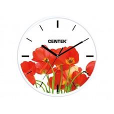 Часы настенные Centek СТ-7102 Tulips маки