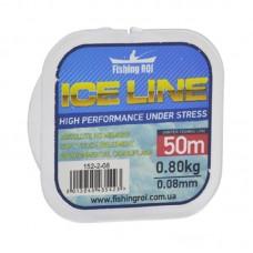 Леска Fishing ROI ICE LINE d=0.13mm 1.5kg 50m