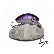 БугМинноу Серебро-Фиолет 35мм 2.8гр