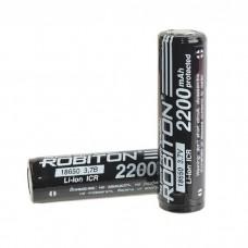 Аккумулятор 18650 Robiton 18650-2200 2200мАч с защитой PK1