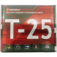 Ресивер Alphabox T25 T2 (IPTV WiFi USB You Tube)