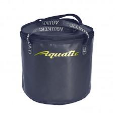 Ведро Aquatic В-04С для замешивания корма герметичное, с крышкой (цвет: синий)