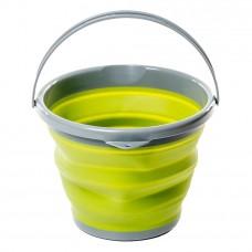 Tramp ведро складное силиконовое 10л (оливковый, 10л)