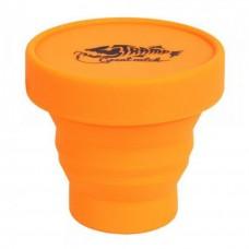 Tramp стакан силиконовый складной с крышкой (Оранжевый, 180мл)