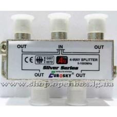 Split 4 way EUROSKY  в короб. + F разъемы 5-1000 Mhz