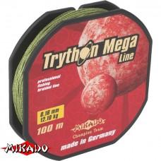 Плетенка Mikado TRYTHON MEGA LINE GREEN 0,14  100% Dyneema 9.1 кг 100 M