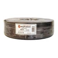 Кабель ALPHABOX RG-6 100m Lite Black PVC