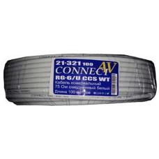 Кабель коаксиальный CONNECT-AV RG-6/U CCS WT